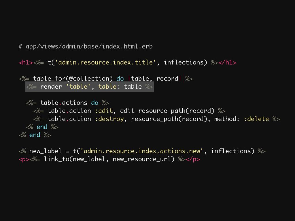 # app/views/admin/base/index.html.erb ! <h1><%=...