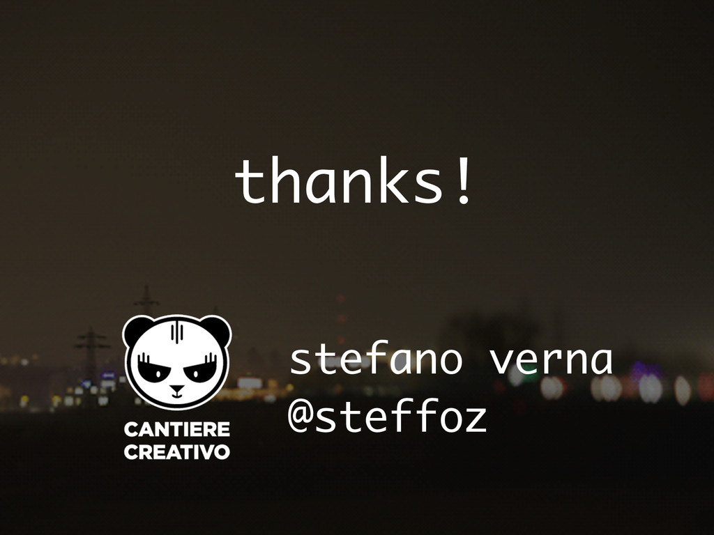 thanks! @steffoz stefano verna