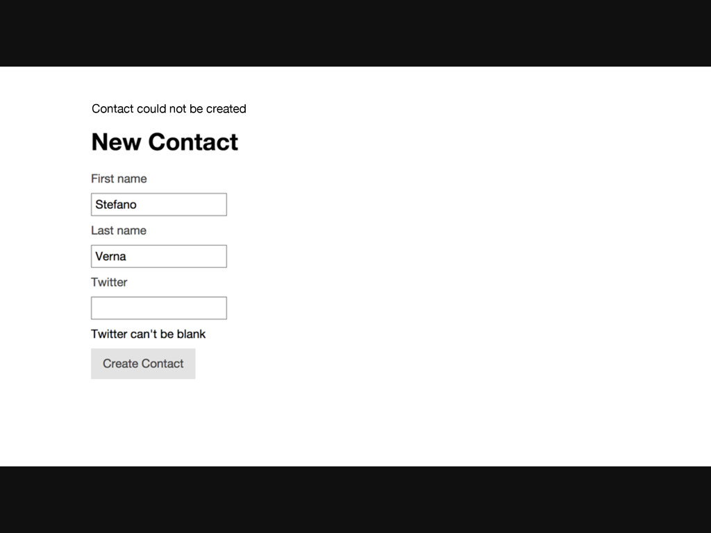 Contact could not be created