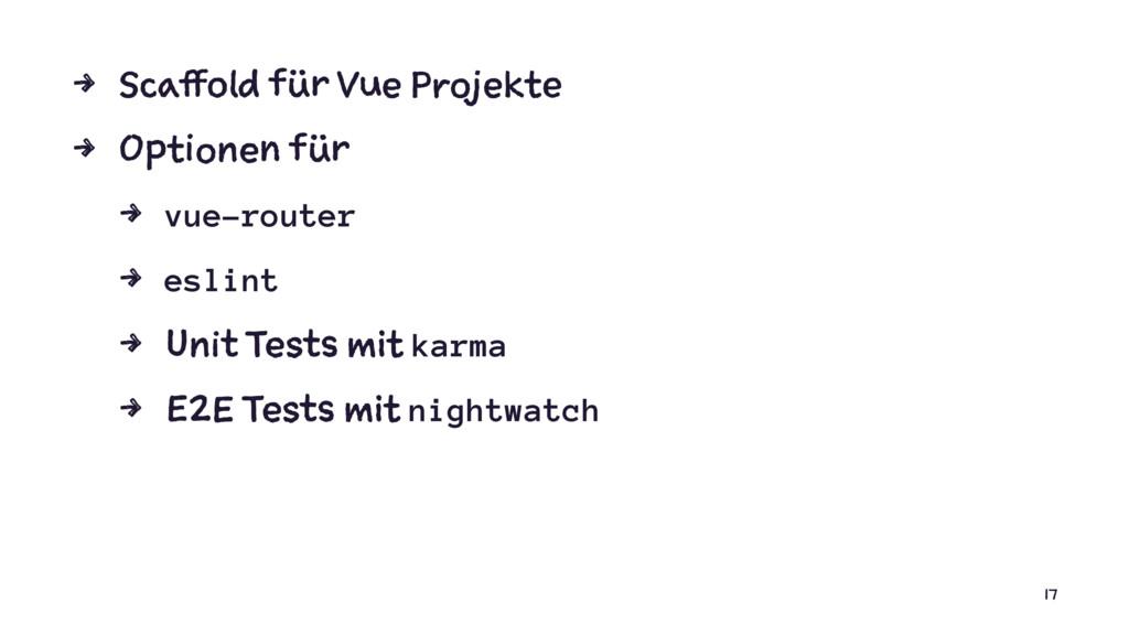 4 Scaffold für Vue Projekte 4 Optionen für 4 vu...