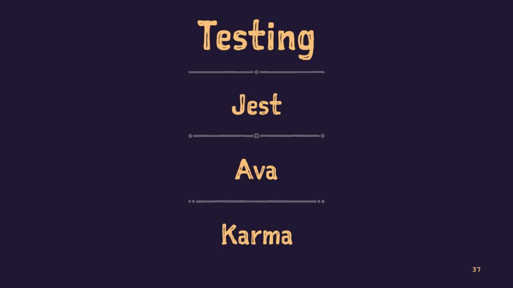 Testing Jest Ava Karma 37