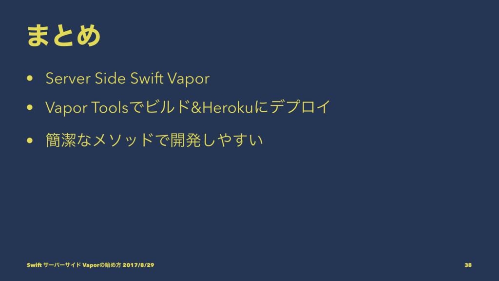 ·ͱΊ • Server Side Swift Vapor • Vapor ToolsͰϏϧυ...
