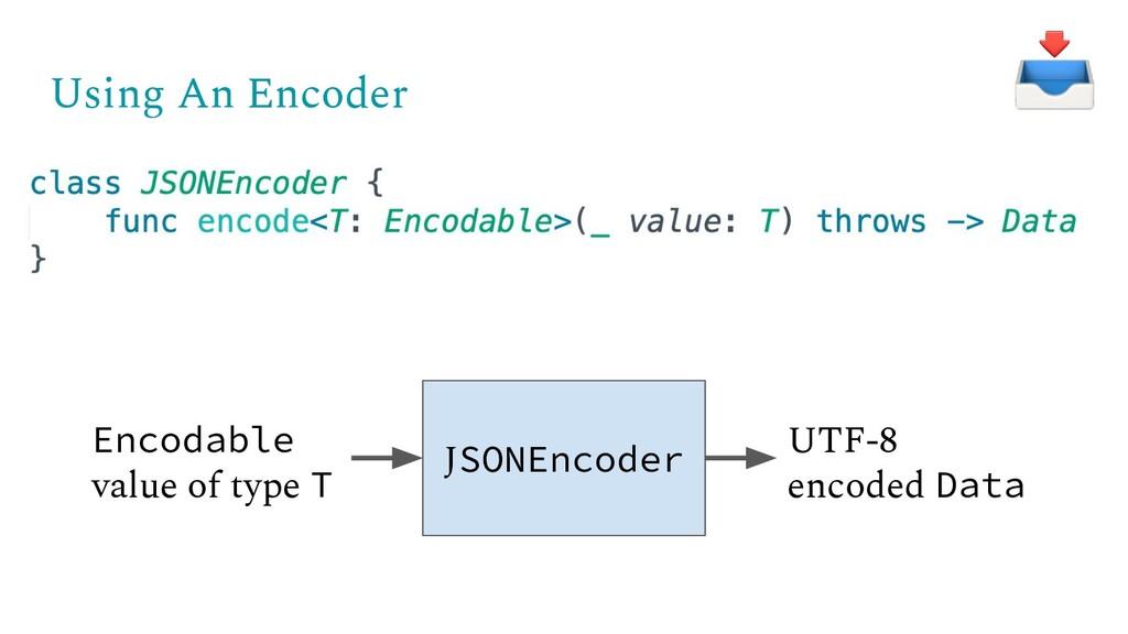 Using An Encoder JSONEncoder Encodable value of...