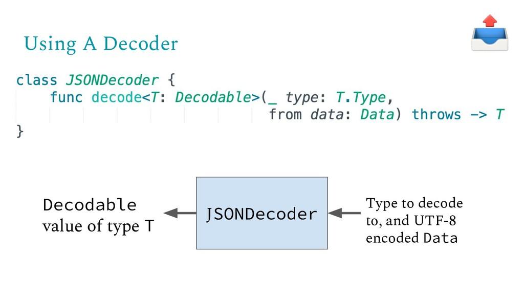 Using A Decoder JSONDecoder Decodable value of ...