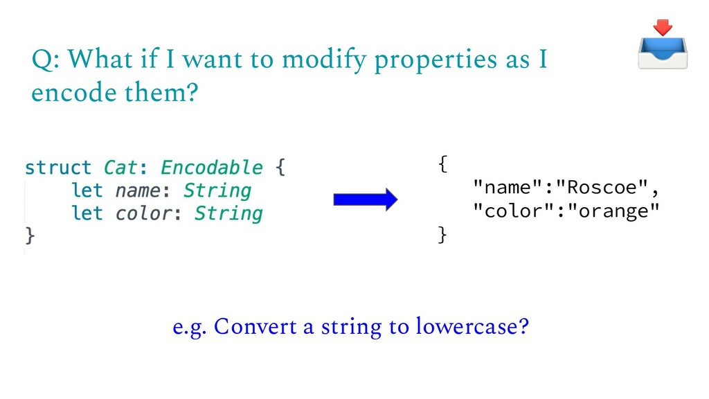 Q: What if I want to modify properties as I enc...