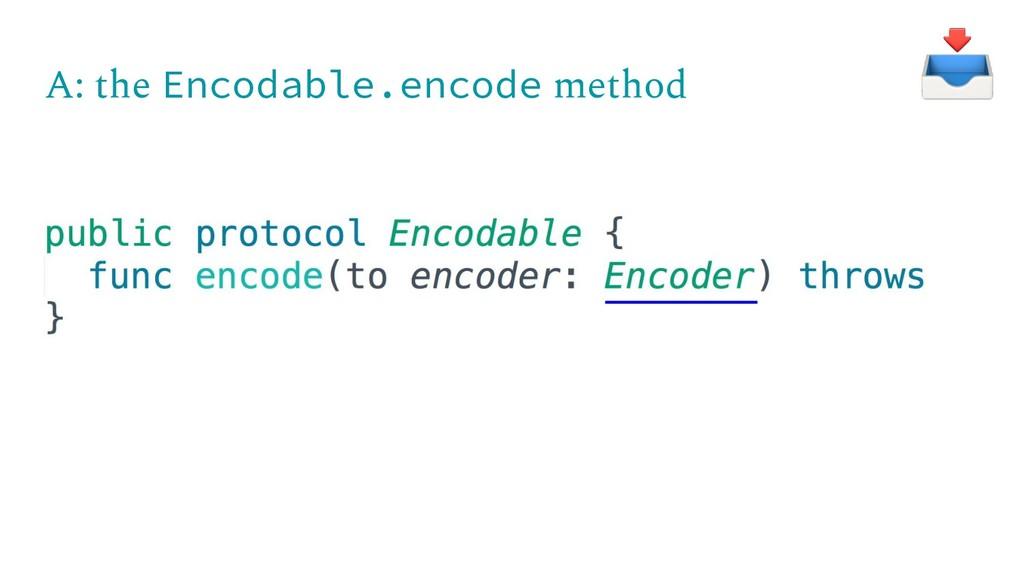 A: the Encodable.encode method