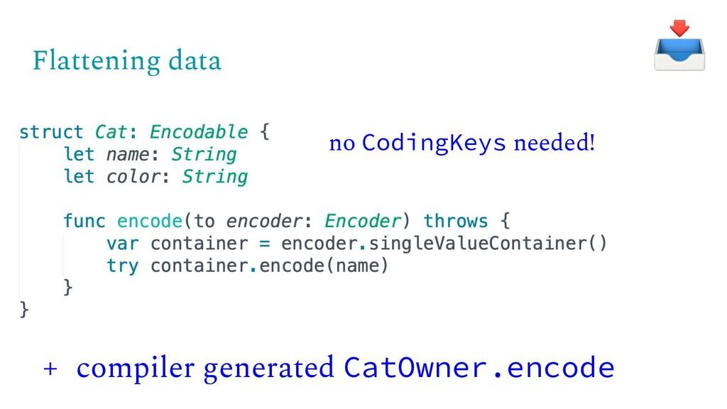 Flattening data + compiler generated CatOwner.e...