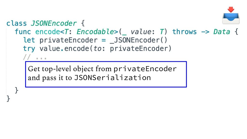 Get top-level object from privateEncoder and pa...