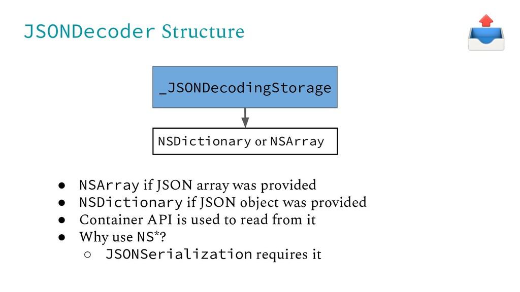 JSONDecoder Structure _JSONDecodingStorage NSDi...