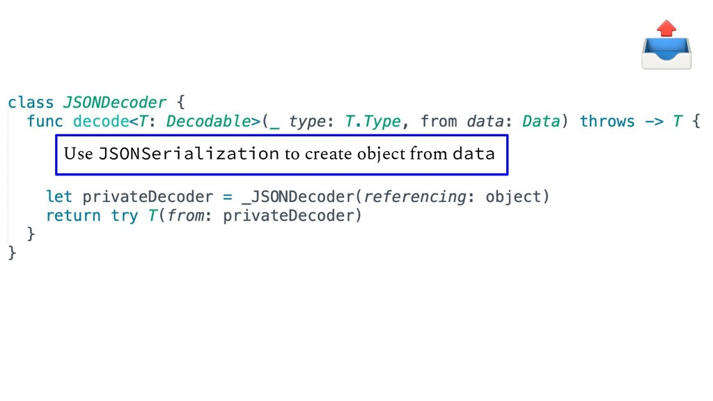 Use JSONSerialization to create object from data