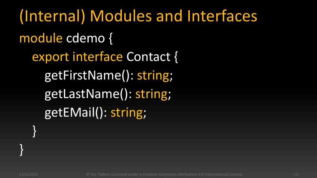 (Internal) Modules and Interfaces module cdemo ...