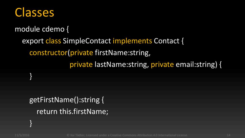 Classes module cdemo { export class SimpleConta...