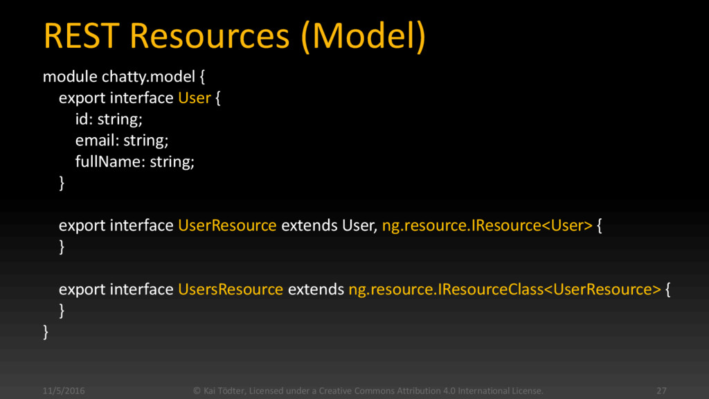REST Resources (Model) module chatty.model { ex...