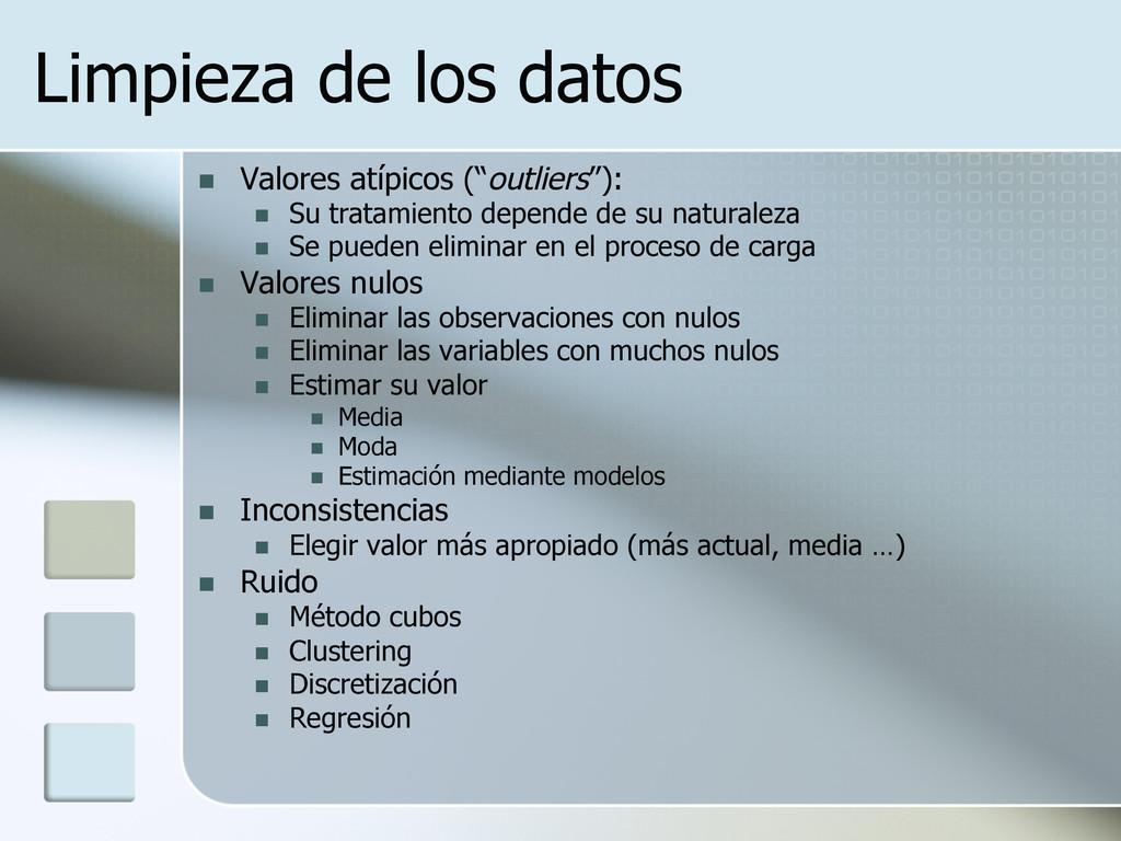 """Limpieza de los datos n Valores atípicos (""""ou..."""