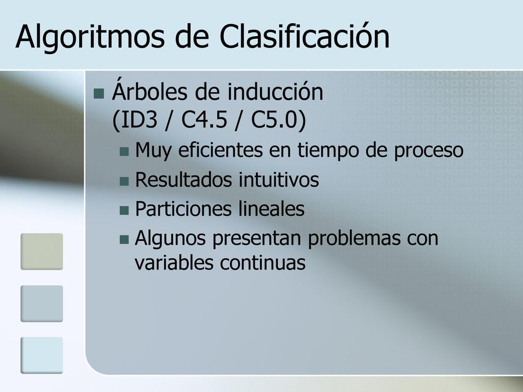 Algoritmos de Clasificación n Árboles de indu...