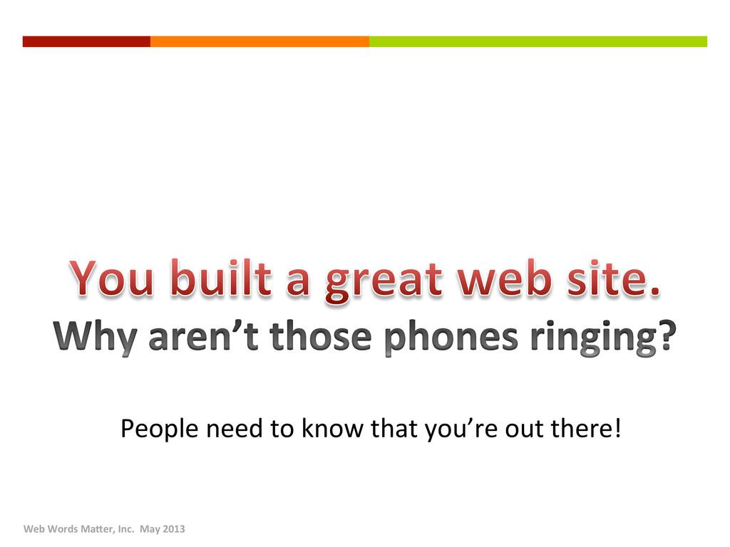 Web Words Ma2er, Inc.  May 20...