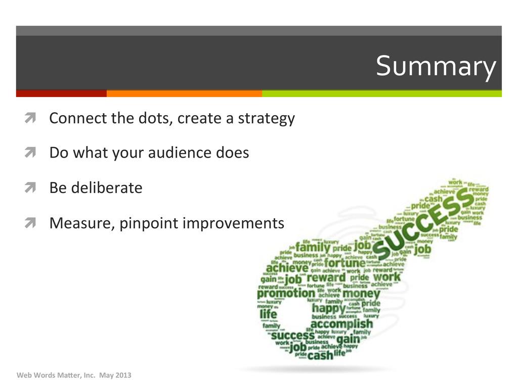 Summary  ì Connect the dots, crea...