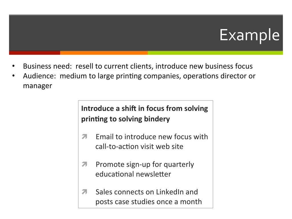 Example  Introduce a shiC in foc...