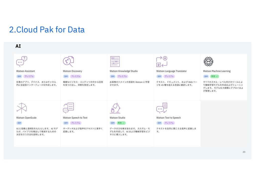 2.Cloud Pak for Data 20 AI