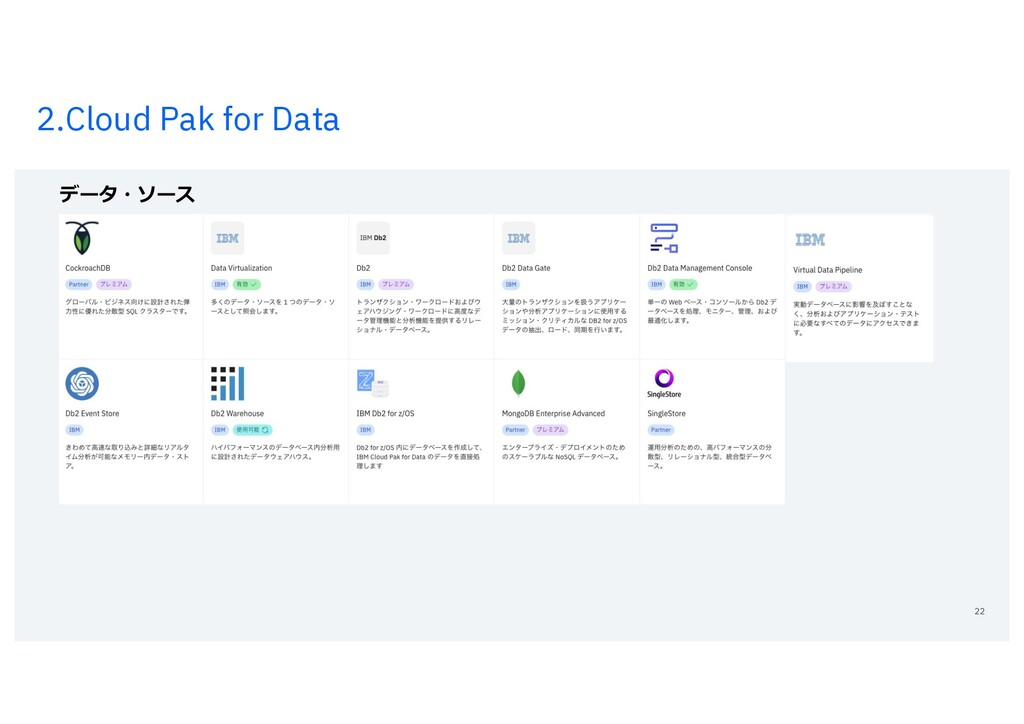 2.Cloud Pak for Data 22 データ・ソース
