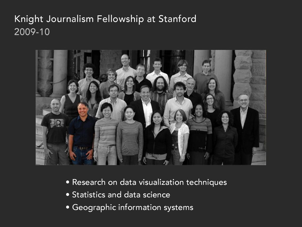Knight Journalism Fellowship at Stanford 2009-1...