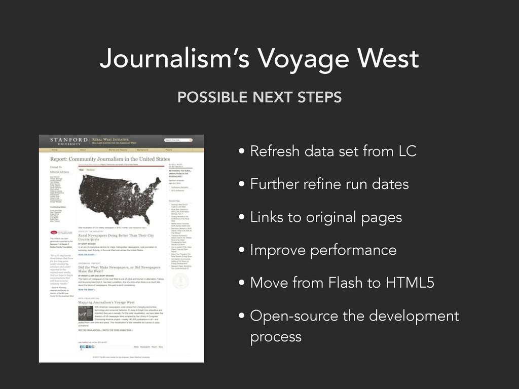 Journalism's Voyage West • Refresh data set fro...