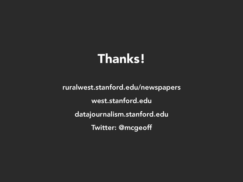 Thanks! ruralwest.stanford.edu/newspapers west....