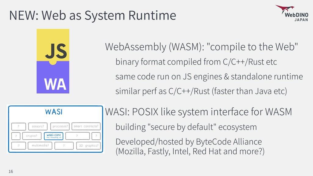 NEW: Web as System Runtime WebAssembly (WASM): ...