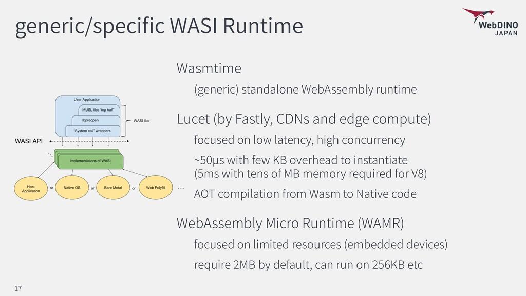 generic/speci c WASI Runtime Wasmtime (generic)...