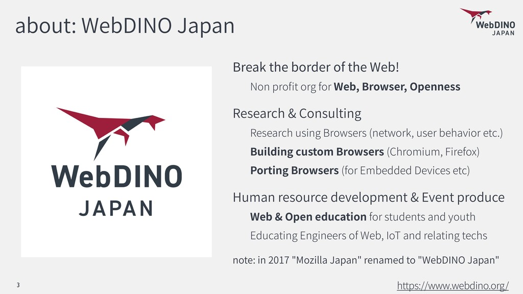 about: WebDINO Japan Break the border of the We...