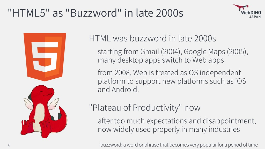"""""""HTML5"""" as """"Buzzword"""" in late 2000s HTML was bu..."""
