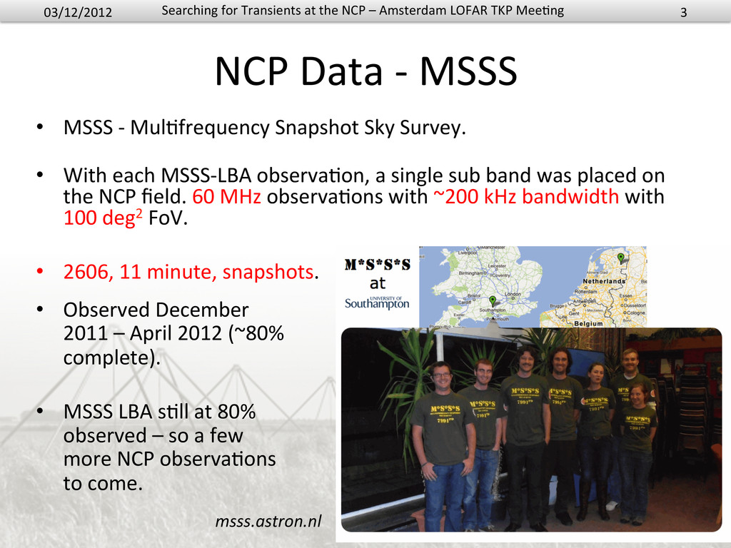 NCP Data -‐ MSSS  • MSSS -‐...