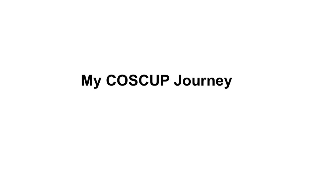 My COSCUP Journey