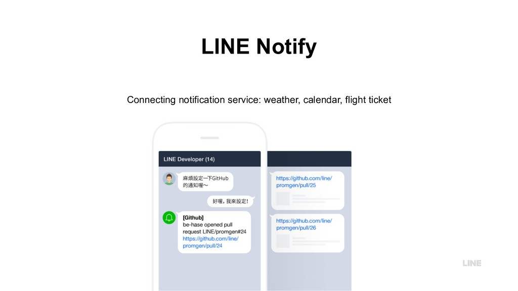 LINE Notify Connecting notification service: we...