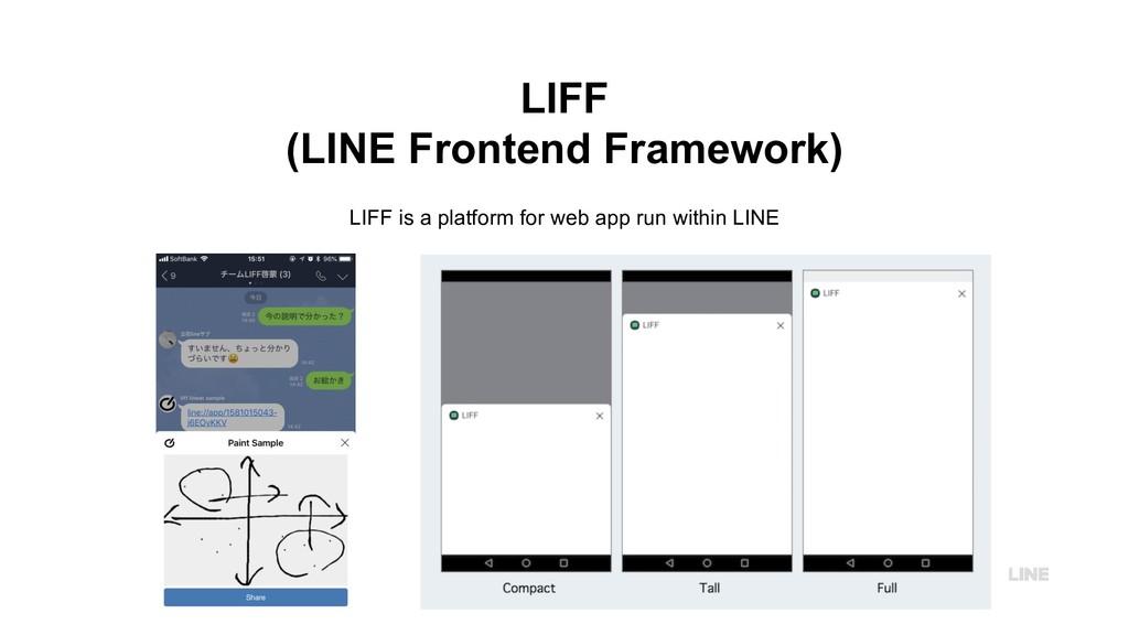 LIFF (LINE Frontend Framework) LIFF is a platfo...