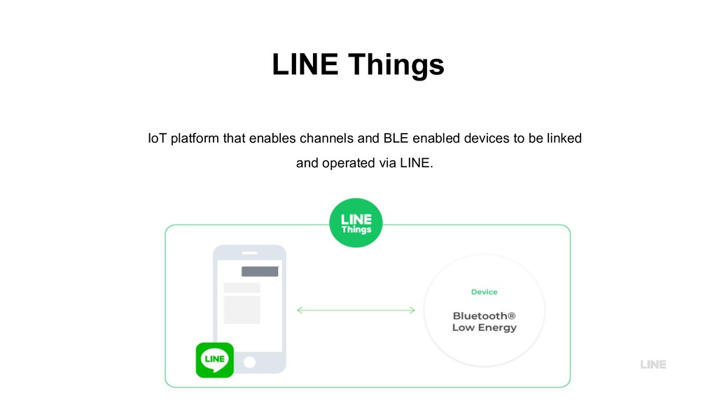 LINE Things IoT platform that enables channels ...
