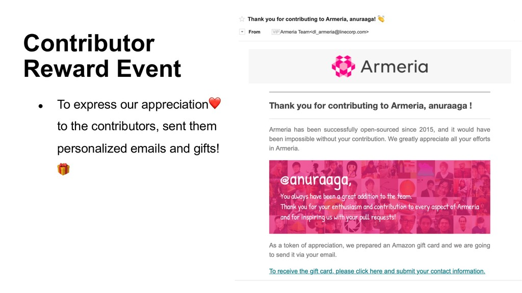 Contributor Reward Event ● To express our appre...