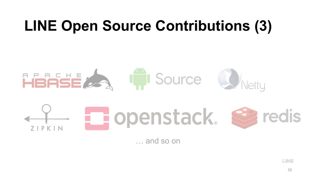 … and so on LINE Open Source Contributions (3) ...