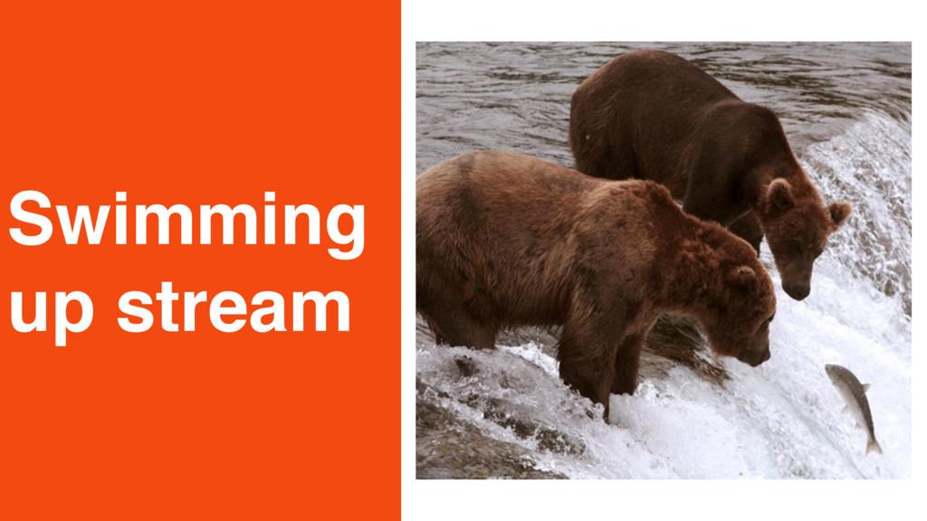 Swimming up stream