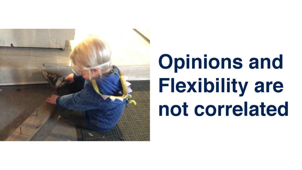 Opinions and Flexibility are not correlated