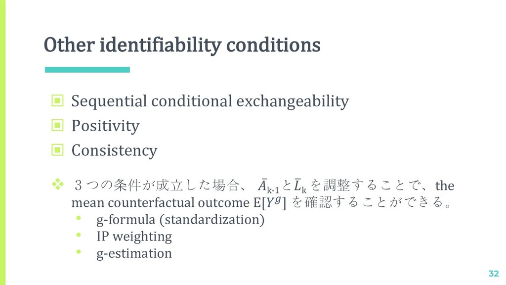 Other identifiability conditions 32 ▣ Sequentia...
