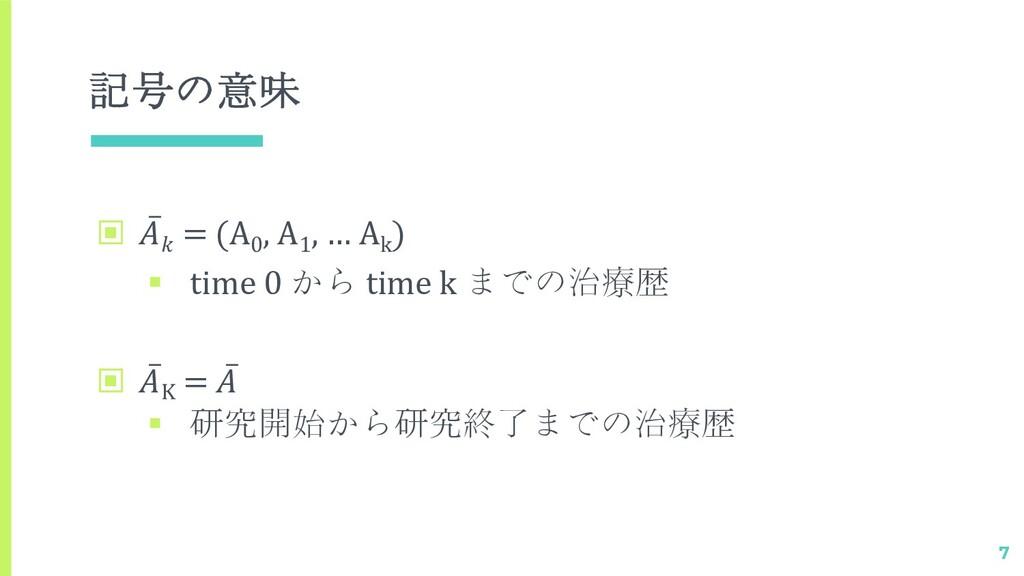 記号の意味 ▣ ̅  = (A0 , A1 , … Ak ) § time 0 から time...