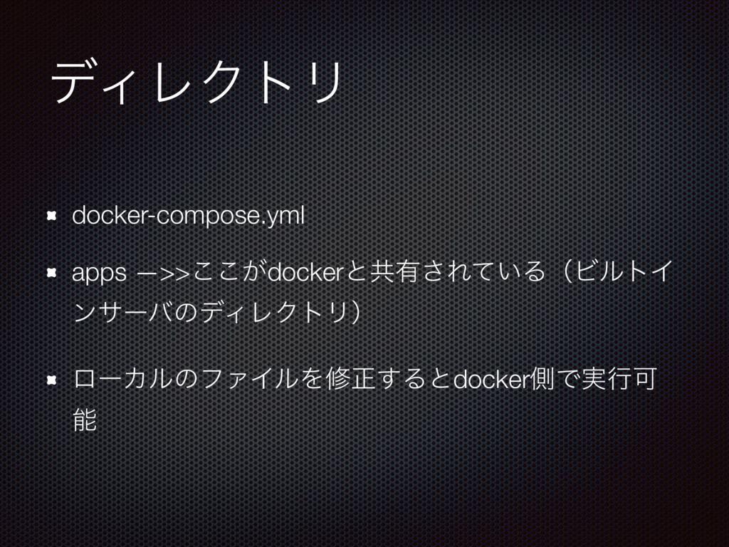 σΟϨΫτϦ docker-compose.yml apps —>>͕͜͜dockerͱڞ༗͞...