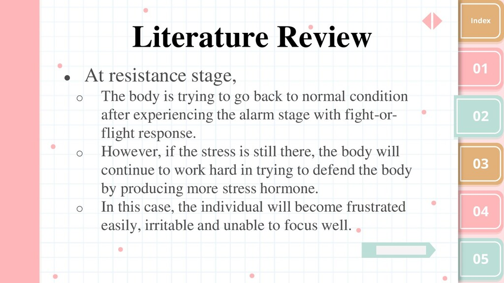 01 02 03 04 05 Index Literature Review ● At res...