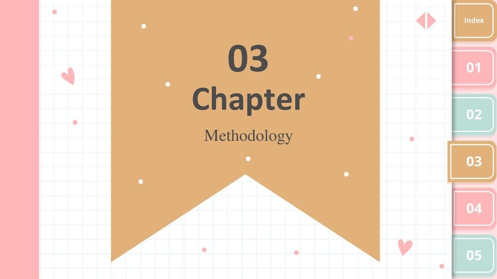03 Methodology Chapter 01 02 03 04 05 Index