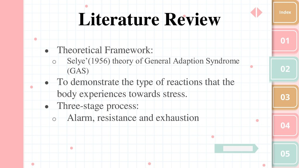 01 02 03 04 05 Index Literature Review ● Theore...