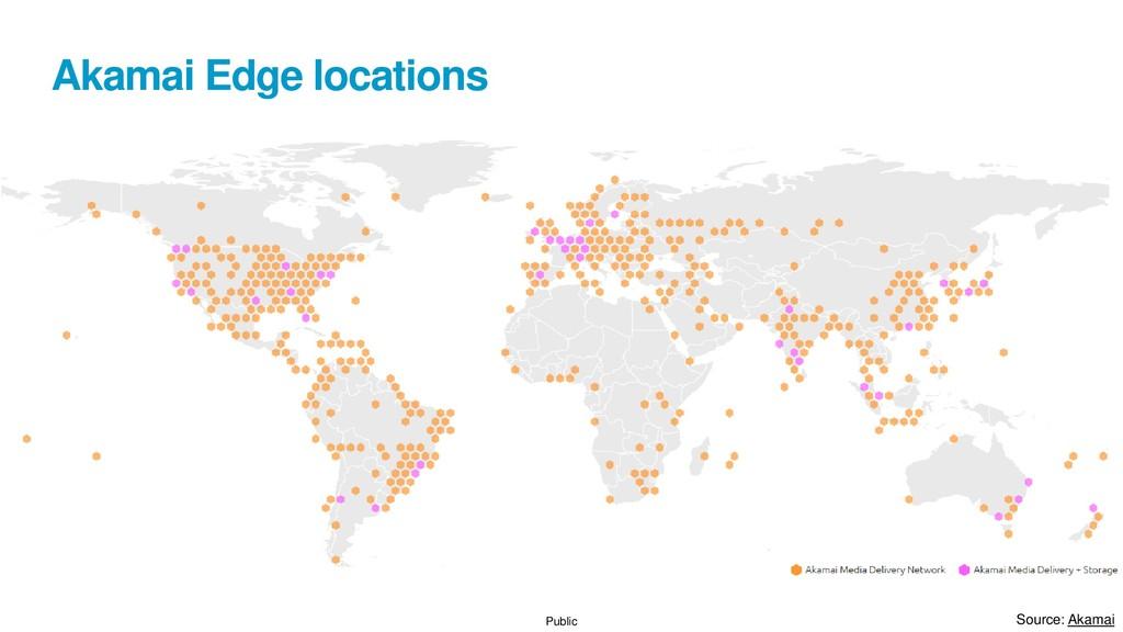 Public Akamai Edge locations Source: Akamai