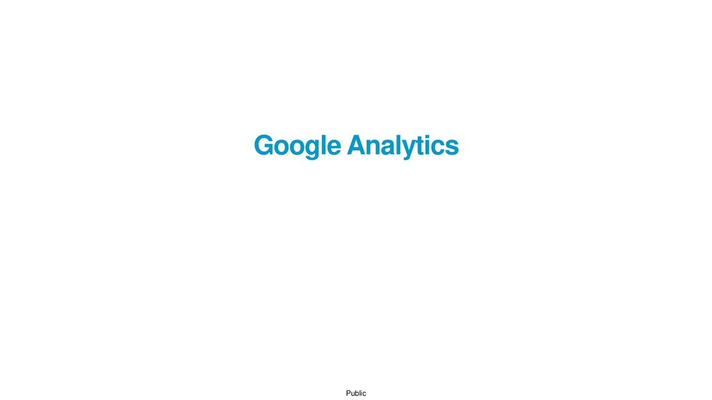 Public Google Analytics