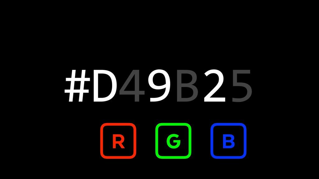 #D49B25 R G B