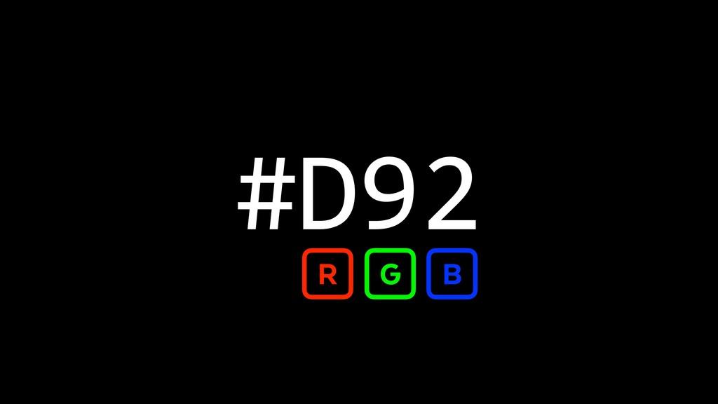 #D92 R G B